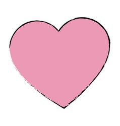 Love heart romantic valentine symbol vector