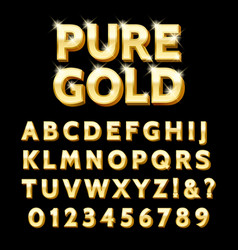 Luxury gold type vector