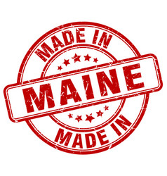 made in maine vector image