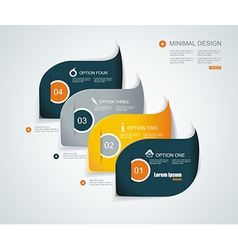 Modern infographics template style can be used for vector