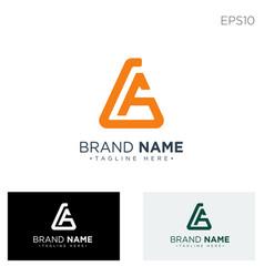Monogram initial ag ga logo template black color vector