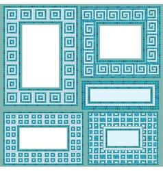 mosaic frames set rect 380 vector image