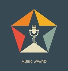 Music award logo label badge or design element vector