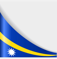 Nauru flag background vector