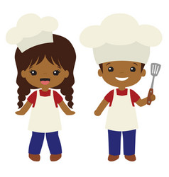 people color cookout grill cooks boy and vector image