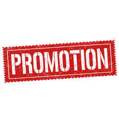 promotion sign or stamp vector image