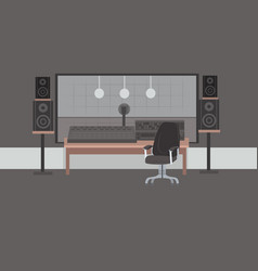 Record producer audio engineer workplace no people vector