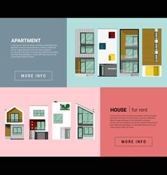 Residential banner for web design vector