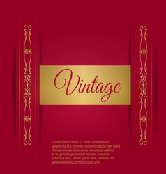 Royal vintage on a burgundy background vector image