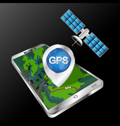 smartphone and satellite technology vector image