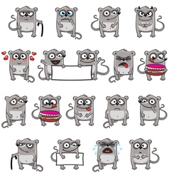 Smiley mice vector