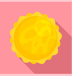 space sun icon flat style vector image