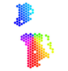 Spectrum hexagon chinese macau map vector