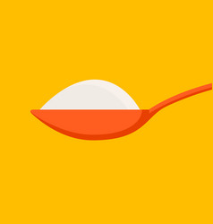 spoon with sugar salt icon teaspoon side view vector image