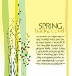 spring design background vector image