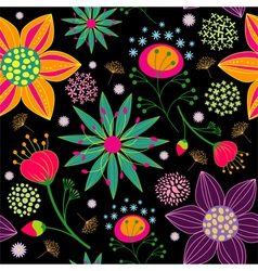 Spring Summer Colorful Flower Seamless Pattern vector image