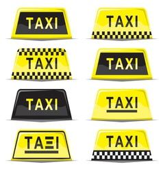 Taxi sign set vector