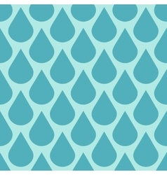 Teal water drops seamless background vector