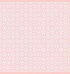 tile pattern with pink and white print vector image