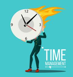Time management man organization of work vector