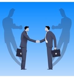 Tough negotations business concept vector