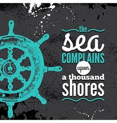 Travel grunge background Sea nautical design vector image