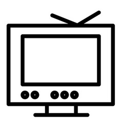 tv line icon monitor isolated vector image
