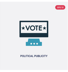 Two color political publicity on monitor screen vector