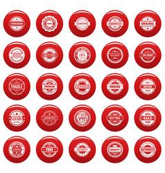 vintage badges and labels icons set vetor red vector image