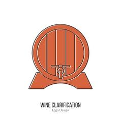 Winemaking wine tasting logotype design concept vector