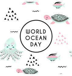 World ocean day element of image furnished by vector