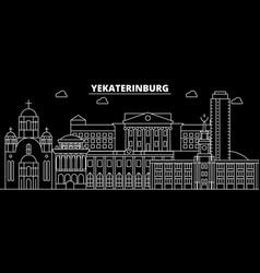 yekaterinburg silhouette skyline russia vector image