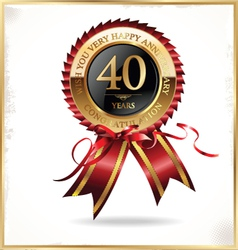 40 years anniversary label vector image vector image