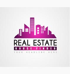 creative real estate logo design for brand vector image