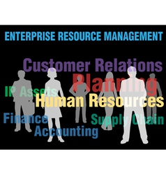 enterprise management vector image vector image