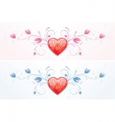 floral valentines vector image vector image