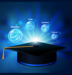 graduate learning vector image