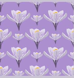 nature spring crocus flower wreath vector image vector image