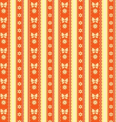 Pattern butterfly flowers vector image