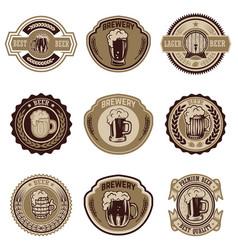 set of vintage beer labels design elements for vector image