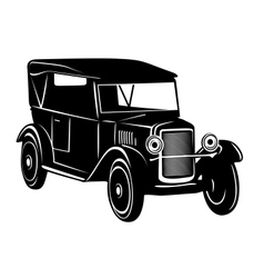 Vintage car of 1920s years vector image