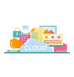 Cloud Storage Technology - flat design website vector image vector image