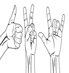 Hand symbol set vector image vector image
