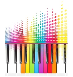 rainbow keys of piano vector image vector image