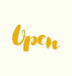 the inscription is open vector image