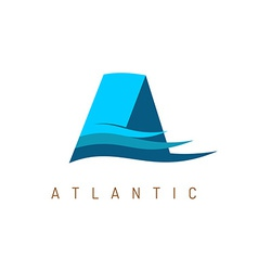 Letter A marine logo template vector image vector image