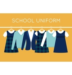 School Uniform for Children and Teenagers on vector image