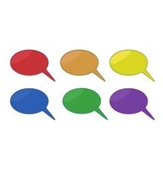 Set of Colored chat bubbles vector image vector image