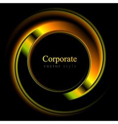 Colourful logo shape vector image vector image