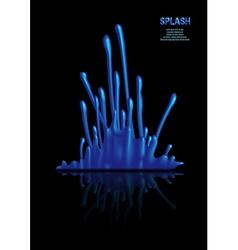 Splash of blue paint vector image vector image